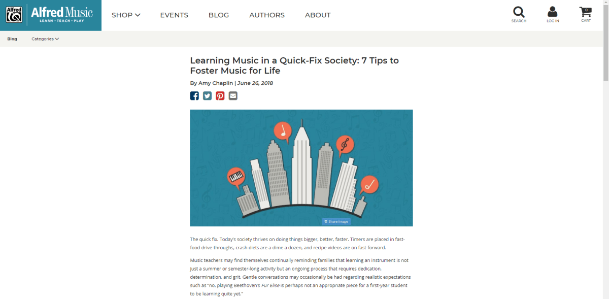 Article on Alfred Music Blog   Tips on Fostering Music for Life
