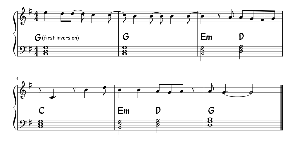 In the shallow chords