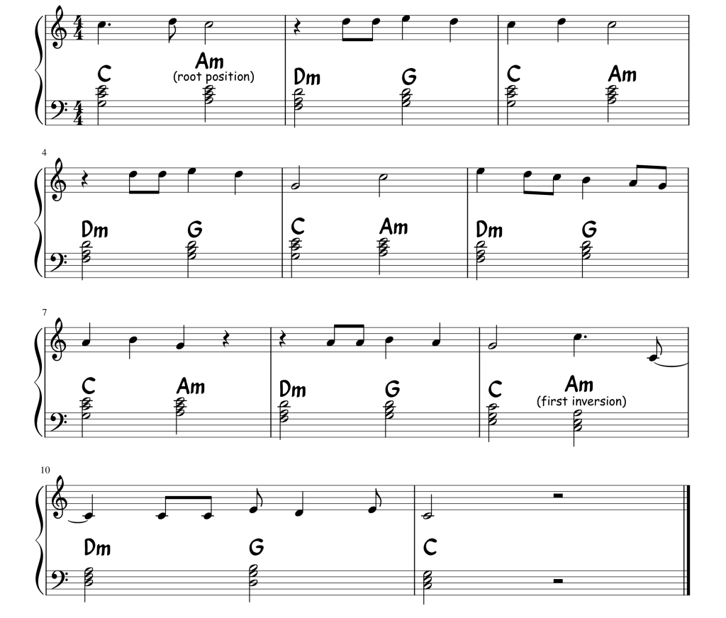 A snippet of sheet music from the song Sherry by Frankie Valli And The Four Seasons