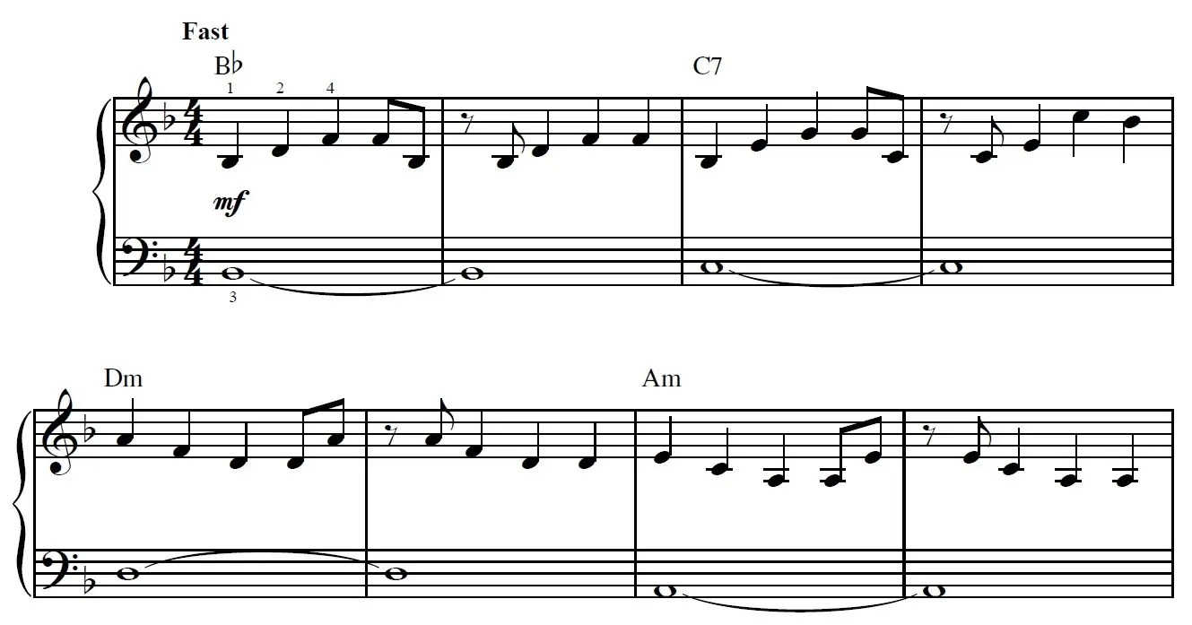 Another Day Of Sun Piano Sheet Music Example