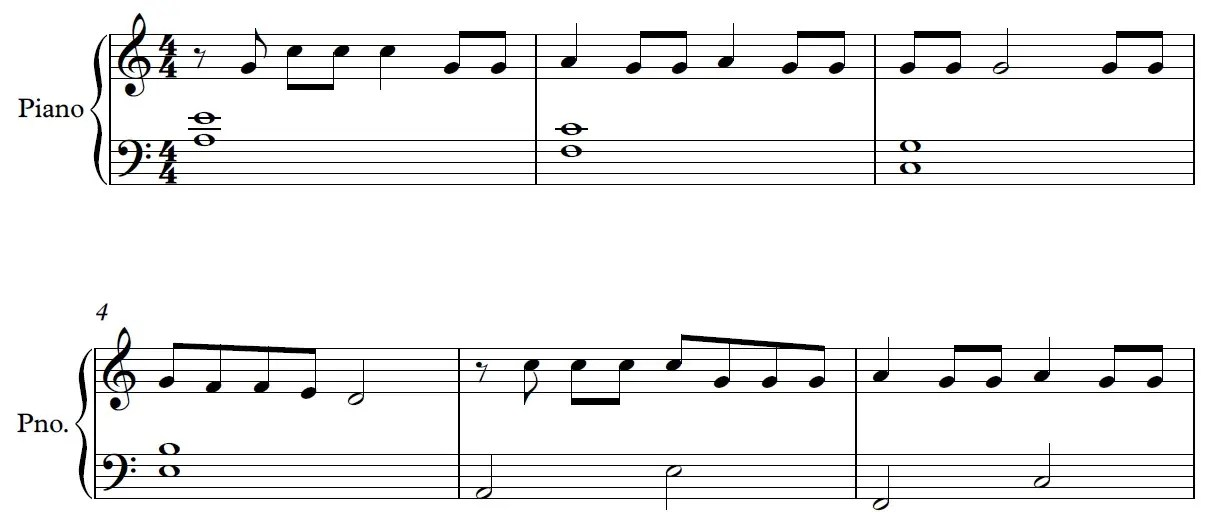 Be Alright Piano Sheet Music Example