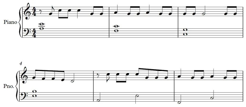 Be Alright Piano Sheet Music - Verse - Easy Version