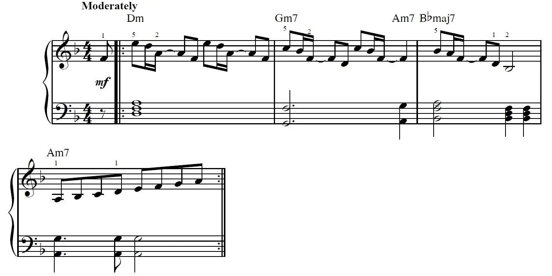 Careless Whisper Piano Sheet Music Example
