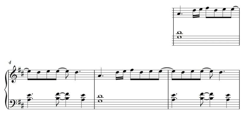 Euphoria Piano Sheet Music - Verse - Easy Version