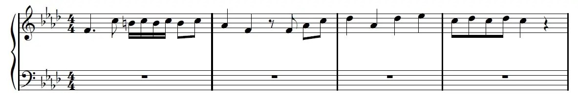 We Are Number One Piano Sheet Music Example