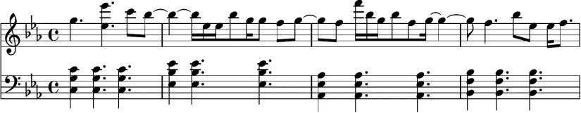 Adore You Piano Sheet Music - Chorus (first 4 bars)