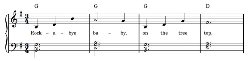 Rock-a-bye Baby Piano Sheet Music - Easy Version - Sample