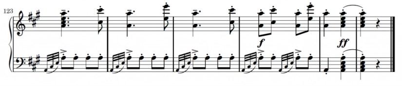 Turkish March Piano Sheet Music - Ending