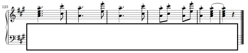 Turkish March Piano Sheet Music - Ending - Right Hand