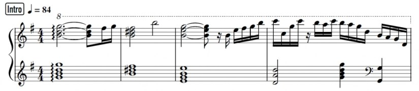 Your Lie In April Piano Sheet Music - Example