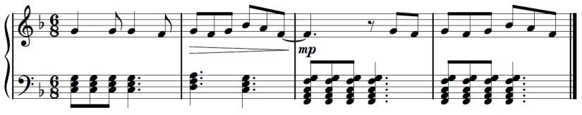 Yuri On Ice Piano Sheet Music - Second Last Line - Fadd9 Chord 3rd Bar