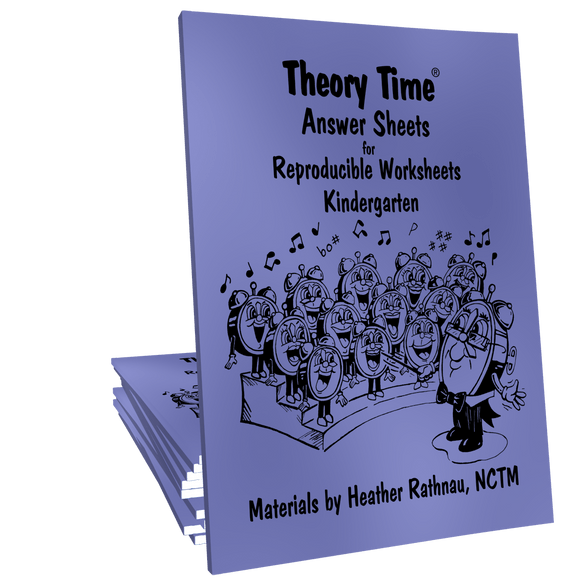 Theory Time Reproducible Series Kindergarten Pack