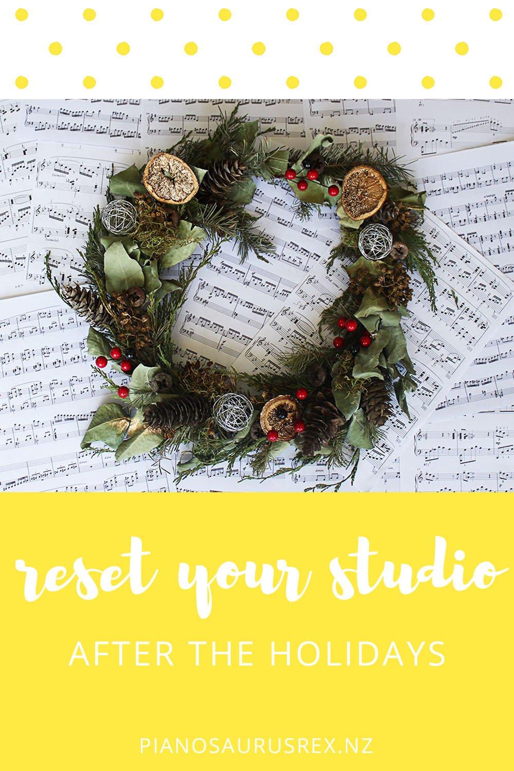 Reset Your Music Studio