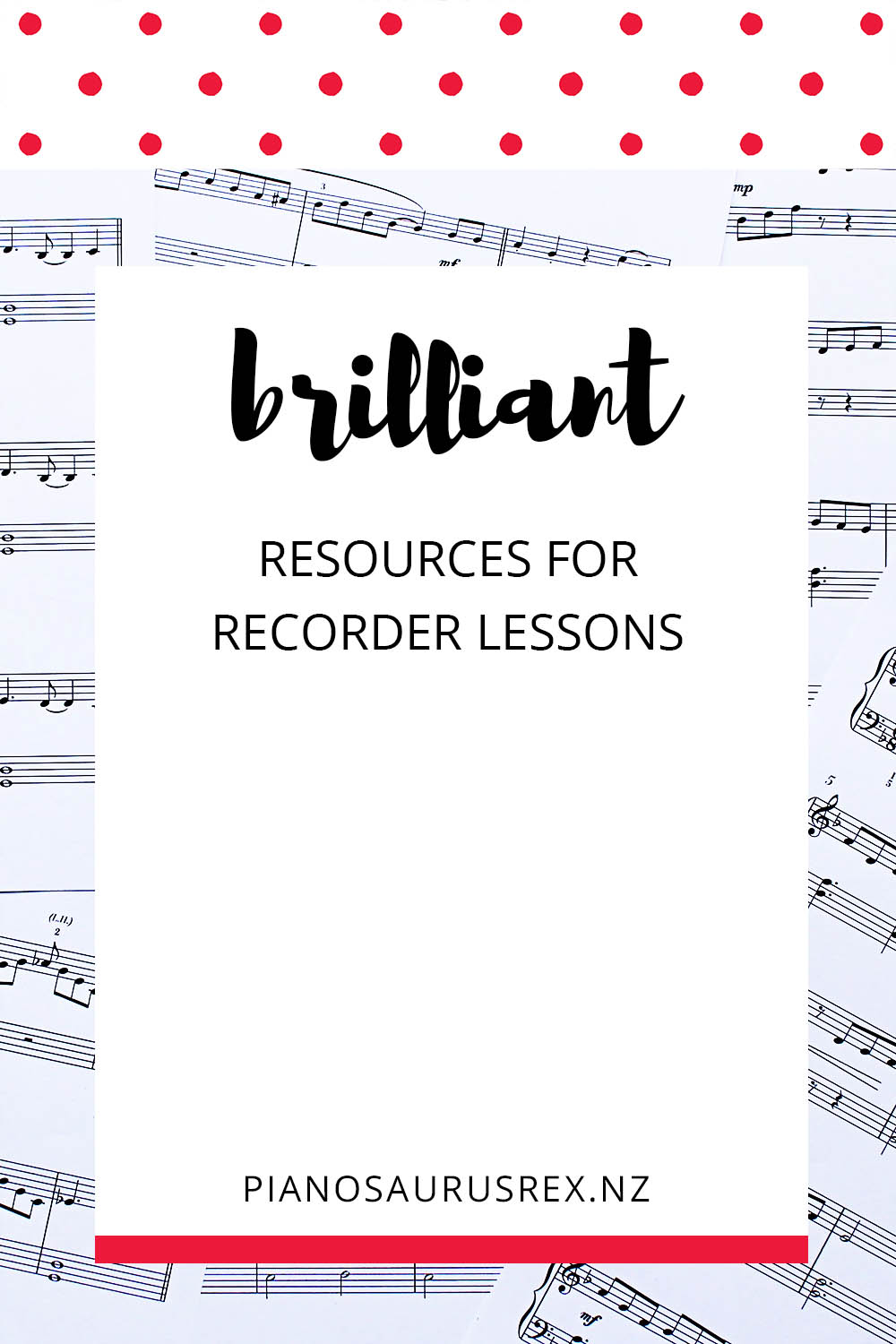 Resources For Recorder Lessons