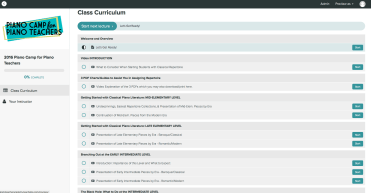 Course Curriculum Screen Shot