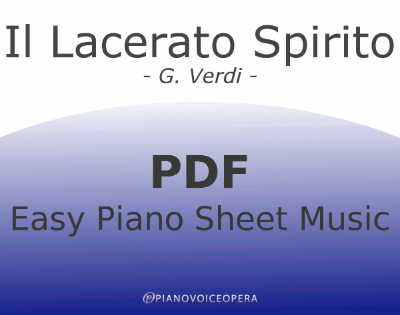 Il lacerato spirito Easy Piano Sheet Music