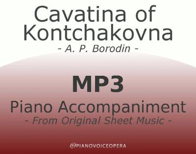 Cavatina of Kontchakovna piano accompaniment