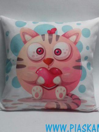 poduszka kotek serce
