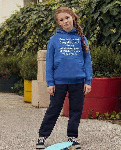 bluza z kapturem dzieciąca dowolny nadruk