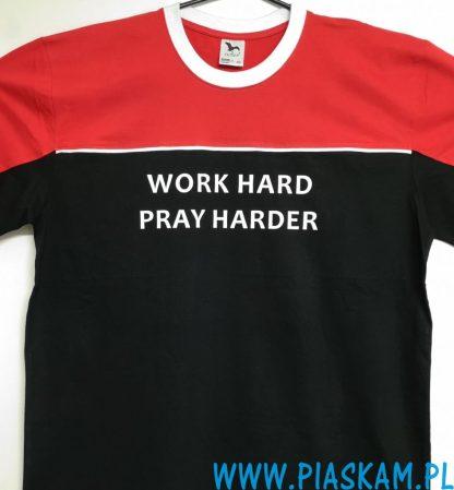 koszulka 3 kolory work hard