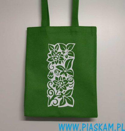 torba nadruk witraż kwiaty