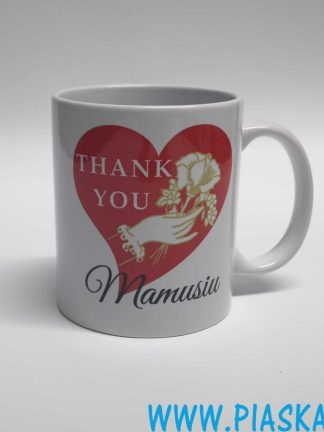 kubek thank you mamusiu róża serce