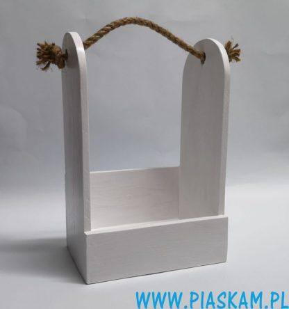 nosidło skrzynka biała rękodzieło