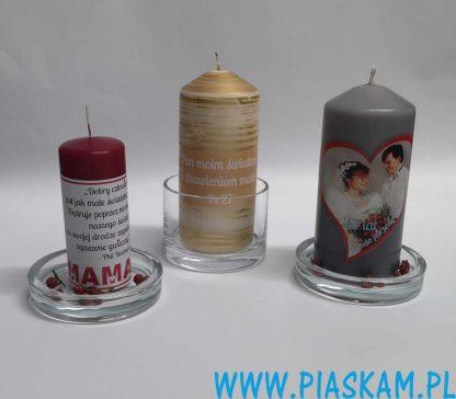 świeczka z dowolnym nadrukiem