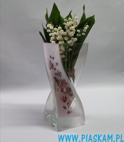 wazon skręt róże grawer