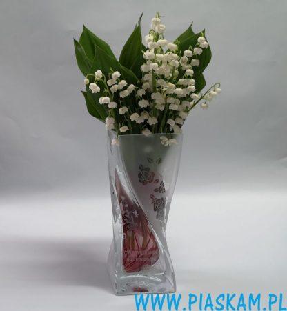 wazon skręt róże grawer wszystkiego najlepszego