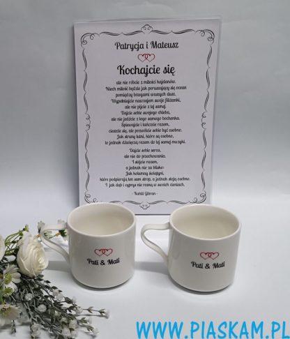 plakat ślub kubki grawerowane