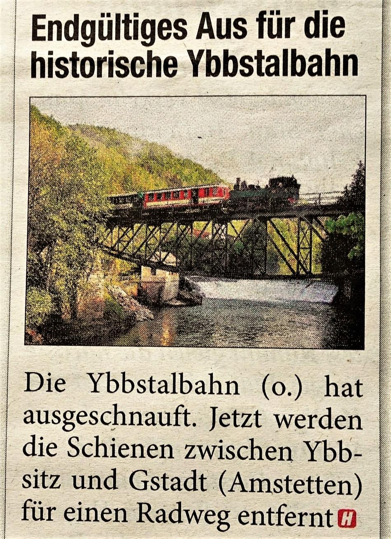 Ybbstalbahn Ybbsitz HEUTE 2.6.2017