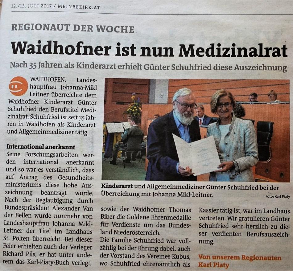 Bezirksblätter Schuhfried 12. Juli 2017