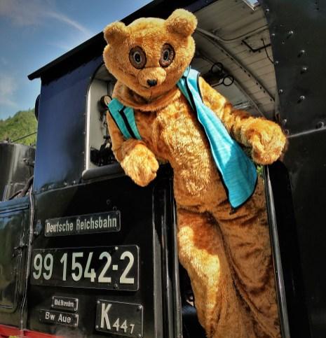 Ötscherbär Lokomotive Führerstand nahe hoch