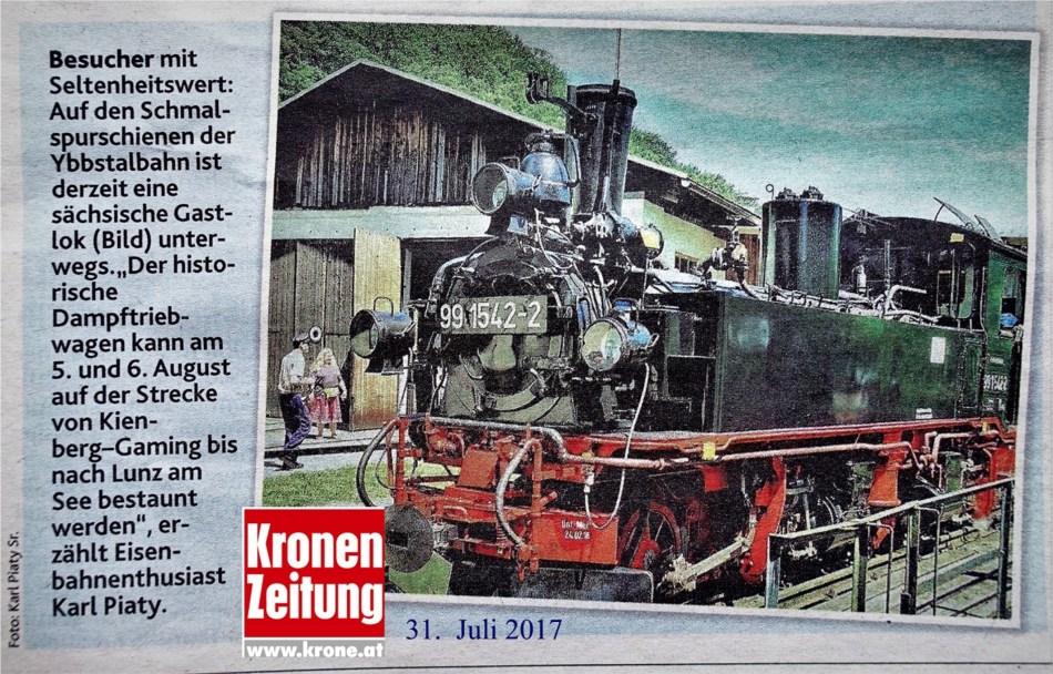 Ötscherlandexpress Logo Krone 31.8.2017
