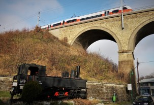 Lok und Zug Viadukt Eichgraben