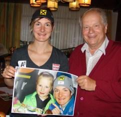 Kathrin Zettel und Karl Piaty sen. mit Bild 11.7.2014