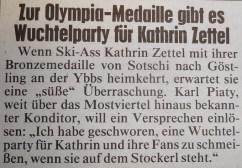 Zettel Wuchteln Kronenzeitung 23.2.2014