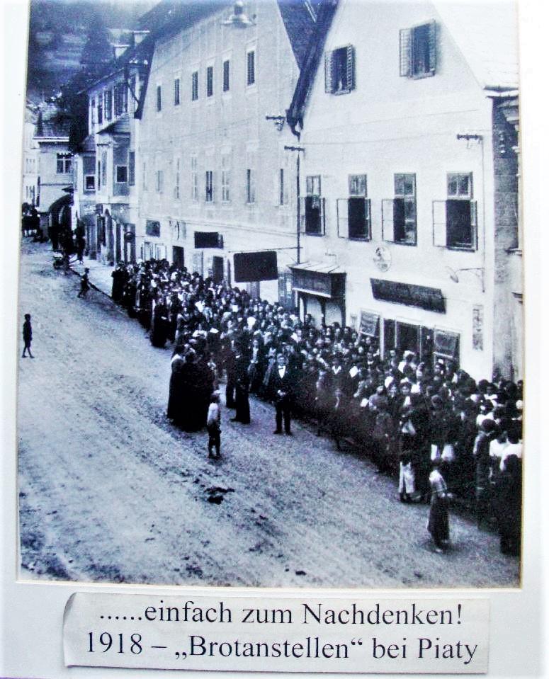 1918 - Brotanstellen in Waidhofen an der Ybbs - Bäckerei Karl Piaty Fotograf unbekannt