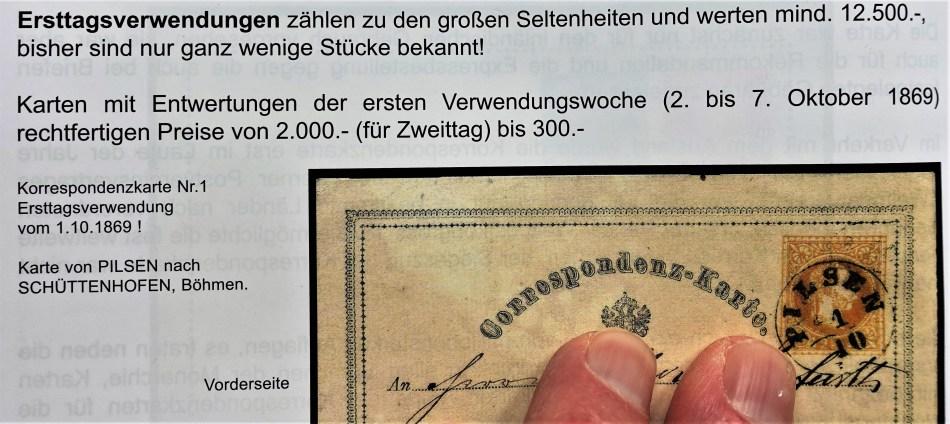 Postkarte 1869
