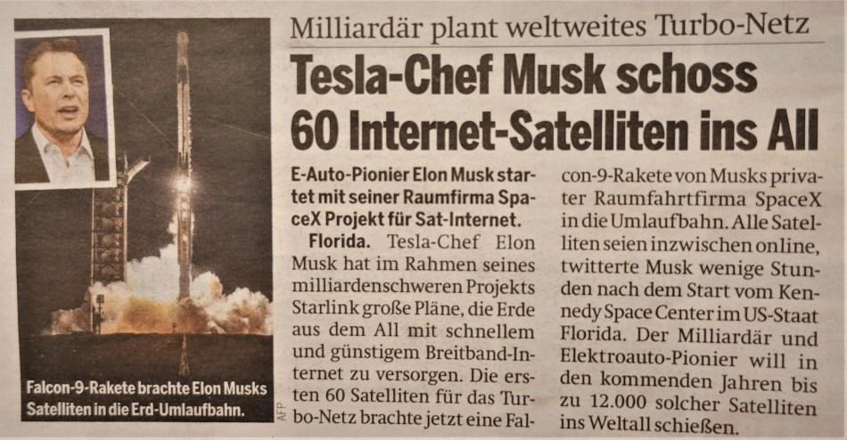 Schnelles Internet über Satellit