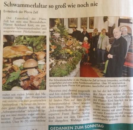 Schwammerlaltar 2014 Ybbstaler 2.9.2014