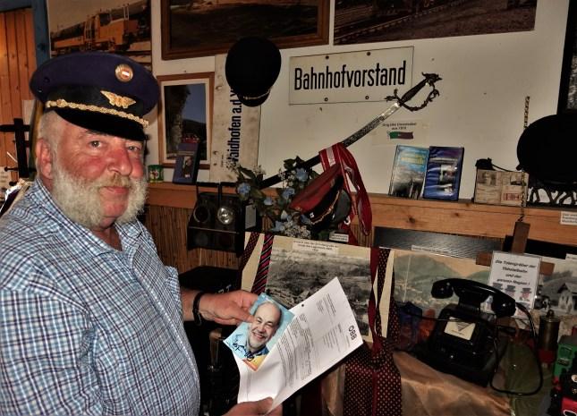 Herbert Marko im Eisenbahnmuseum Ybbsitz
