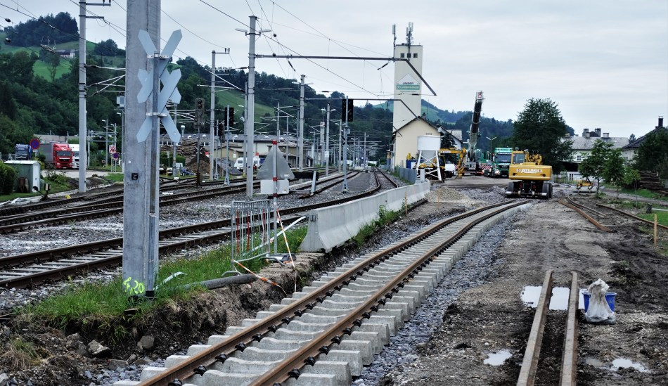 Neue Verschwenkung in Waidhofen Ybbs 5.8.2020