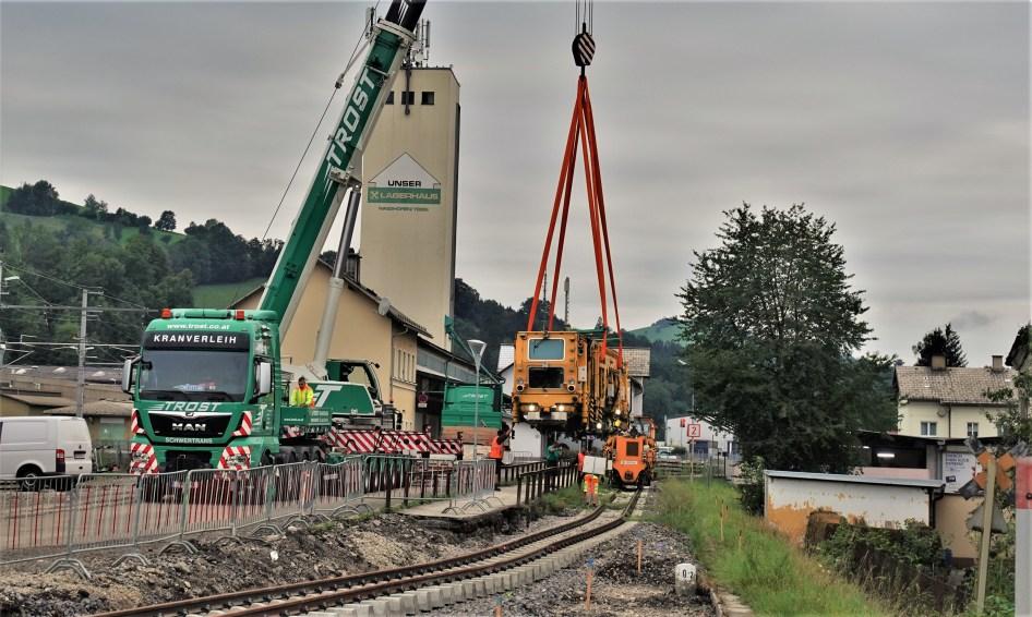 Stopfmaschine Citybahn 5.8.2020
