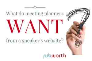 speaker websites What do meeting planners want