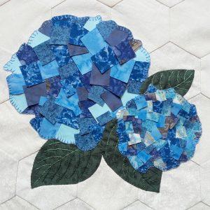Scrappy Bits appliqué Fleurs hortensia Pic épingles 0616