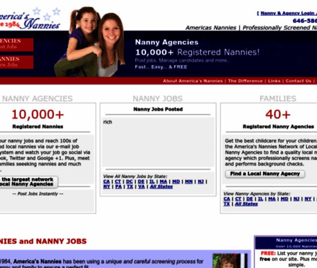 Americasnannies Com Screenshot