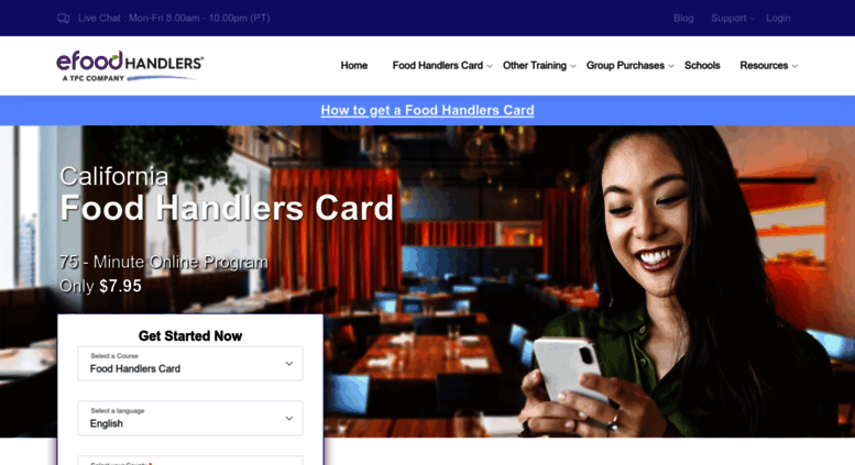 How Do I Get A Food Handlers Card In California