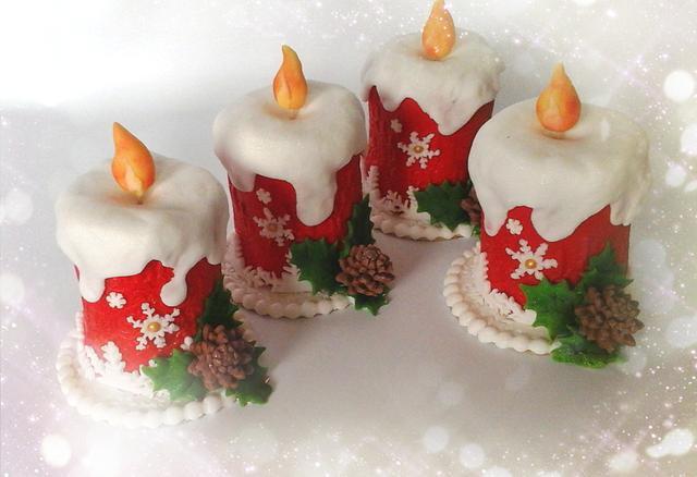 Mini Pasteles de Navidad